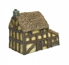 (6B025) Thatched Timber Framed House