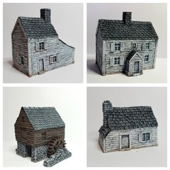4 - Piece ACW / AWI Buildings Set