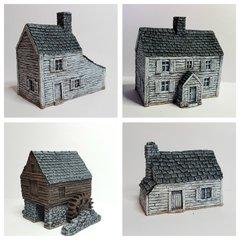 4 - Piece ACW / AWI Buildings Set