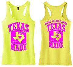 Ladies Racerback Tank Top - 100% Texas Made Est. 1845