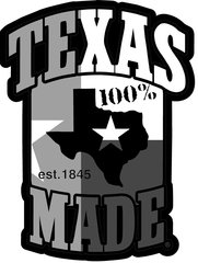 "6"" Decals - 100% Texas Made Est. 1845"