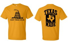 T-Shirts - Don't Tread On Me Snake - 100% Texas Made Est. 1845