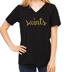 Saints Ladies V-Neck