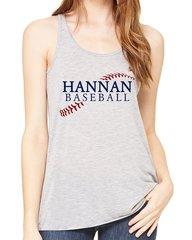 Hannan Baseball Bella Flowy Tank
