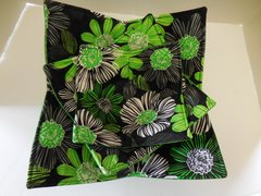 Microwaveable Bowl  -  Green and Black Floral
