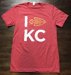 I Arrow KC Unisex Super Soft Crew Red