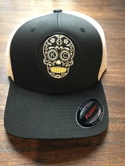 Sugar Skull our Logo Black or Blue Flexfit one size fits all