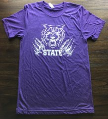 K State Purple Super Soft Crew Tee