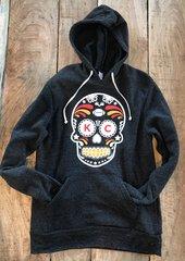K C Sugar Skull Super Soft Hoodie Unisex Eco Black