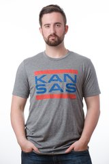 Kansas Unisex Super Soft Crew Tee Gray