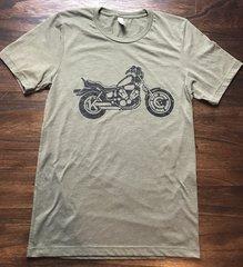 KC motorcycle Unisex Super Soft Olive Crew
