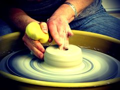 Throwing on the Potter's Wheel, Thursdays 7/13 to 8/17, 6-9 pm