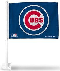 Chicago Cubs Logo Car Flag