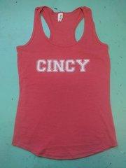 Cincy ladies tank top heather red