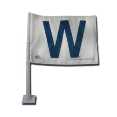 Chicago Cubs W Car Flag