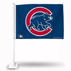 Chicago Cubs Walking Bear Car Flag