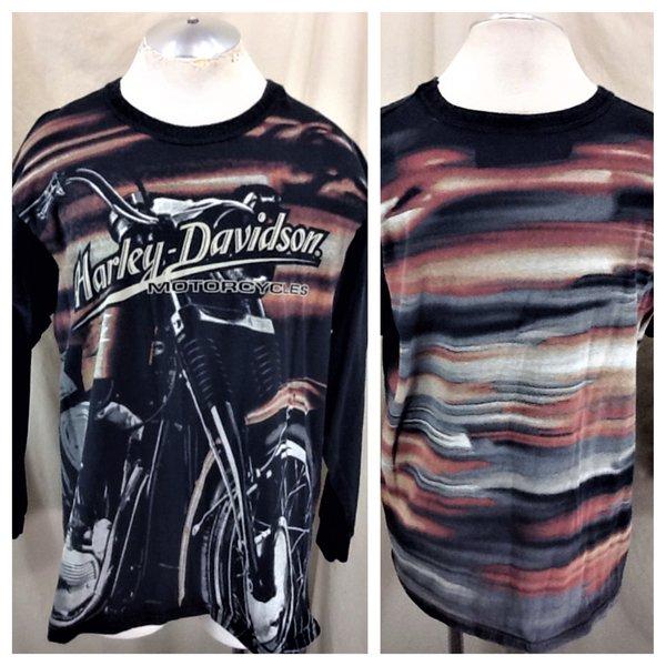 vintage 90's harley davidson motorcycles (xl) retro long sleeve