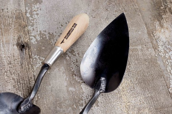 Large trowel hand forged garden tool homestead iron we for Gardening tools made in usa