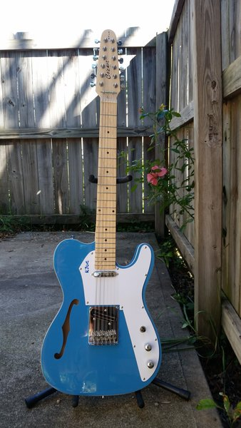 SOLD!! 12 String Thinline Tele Style Electric Guitar, that bites!