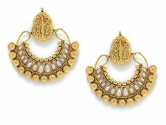 Large Antique Lakshmi Ram Leela Earrings