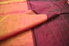 Jewel-Toned Burgundy & Orange Uppada Soft Silk