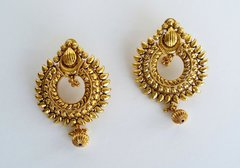 Antique Sunburst Chaand Bali Earrings