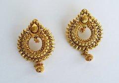 Antique Sunburst Chaand Bali Earrings
