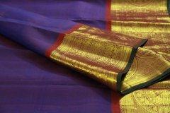Jewel Purple Chakaram Pure Kanchipuram Silk