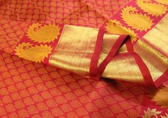 Fucshia Jacquard Pure Kanchipuram Silk Saree