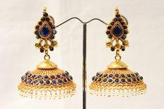 Temple Umbrella-Shaped Jhumkas