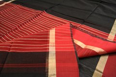 Black & Red Maheshwari Cotton Silk