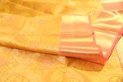 Yellow & Dusty Rose Pure Kanchipuram Silk