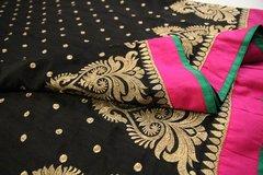Black & Pink Bhagalpuri