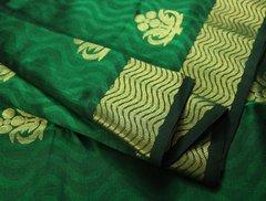 Emerald Green Pure Kanchipuram Cotton Silk Saree