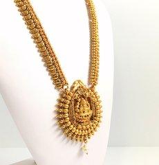 All Gold Lakshmi Sun Burst Haaram & Matching Jhumkas