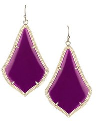 Kendra Scott Alex Earrings in Gold with Purple Jade