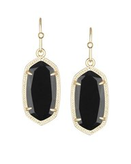 Kendra Scott Dani Earrings in Gold with Black Glass