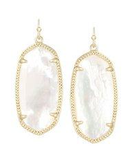 Kendra Scott Elle Earrings in Gold with Ivory Pearl