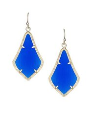 Kendra Scott Alex Earrings in Gold with Cobalt