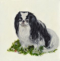 """Baby Boo"" ... Japanese Chin, 5x7 Note Cards & 8x10 Matted Print"
