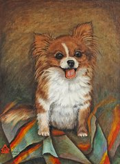 """Cecilia"" ... Long Coat Chihuahua, 5 x 7 Note Cards, 12-Pack"