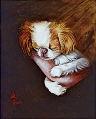 """Arms of an Angel I"" ... Japanese Chin, 5 x 7 Note Cards & 8x10 Paper & Canvas Prints"