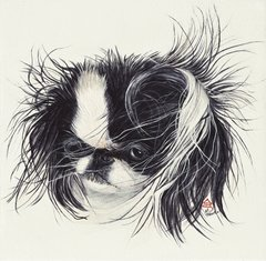 """Sweet Pea"" ... Japanese Chin, 5 x 7 Note Cards & 8x10 Matted Print"