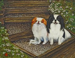 """Daddy's Girl"" ... Japanese Chin, 5 x 7 Note Cards & Assorted Size Paper & Canvas Prints"