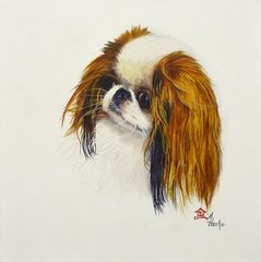 """Lacey"" ... Japanese Chin, 5 x 7 Note Cards & 8x10 Matted Print"