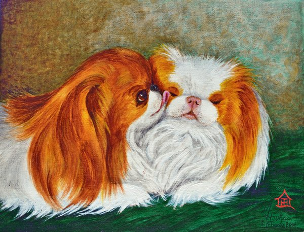 """Best Friends"" ... Japanese Chin, 5x7 Note Cards & Assorted Size Paper & Canvas Prints"