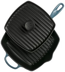 Panini Press and Signature Square Skillet Grill Set - Marine