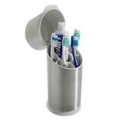 OXO STAINLESS STEEL TOOTHBRUSH ORGANIZER