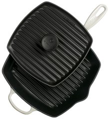 Panini Press And Signature Square Skillet Grill Set - White