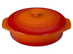 """2.1 qt. [9.5""""] Covered Round Casserole - Flame"""